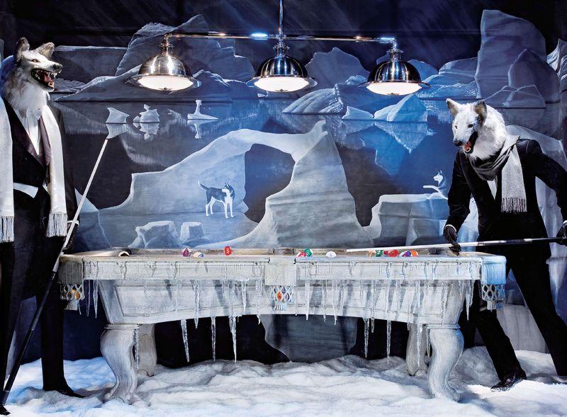 5 Billiards Game- Windows at Bergdorf Goodman