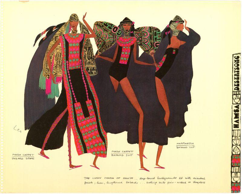 Detail from Gottex catalog [1977]. Production Turnowsky Ltd. Illustration Lea Cohen (7)_edit