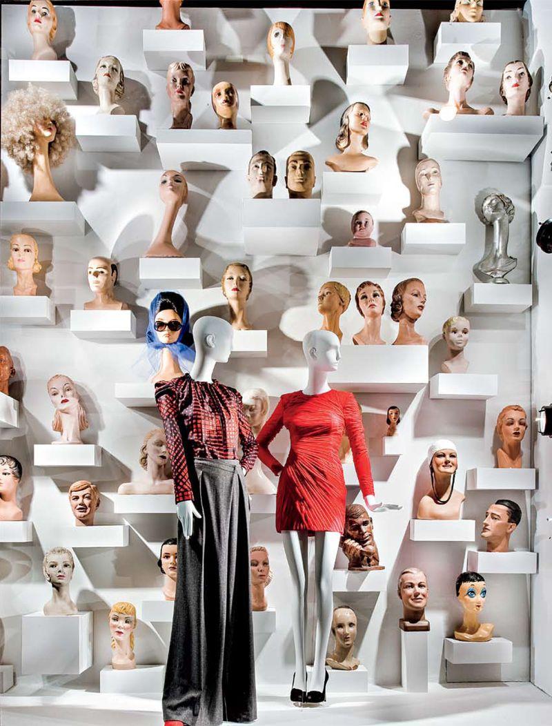 11 Vintage Display Heads- Windows at Bergdorf Goodman