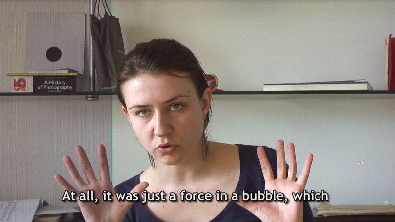 Force in a bubble