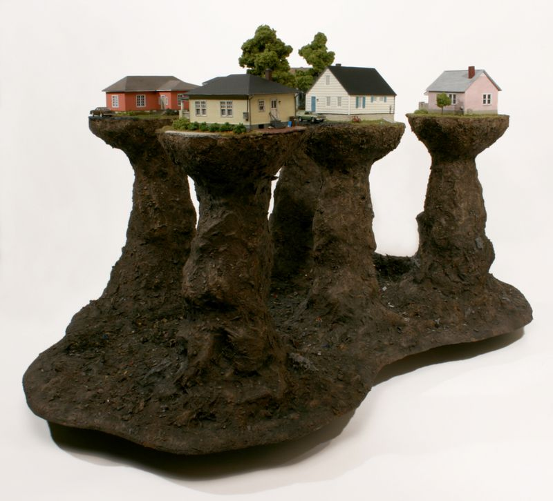 D_Thomas Doyle, Proxy (Haven Ln.), Mixed media, 21 x 40 x 27 in, 2012, courtesy the artist and Ronchini Gallery