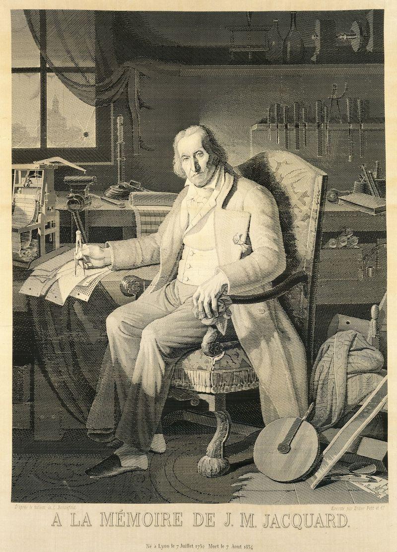 Jacquard-woven-silk-portrait