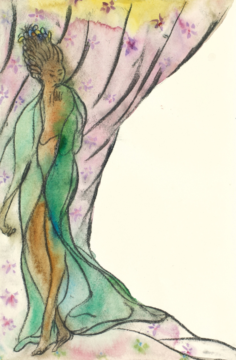 X9573 Chris Ofili_The Caged Birds Song (She) 2_2014 retouched
