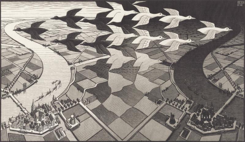 Dag en Nacht (1938)  M.C. Escher © the M.C. Escher Company B.V. All rights reserved. www.mcescher.com