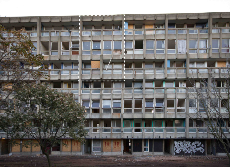 Robin Hood Gardens  completed 1972  designed by Alison and Peter Smithson_c