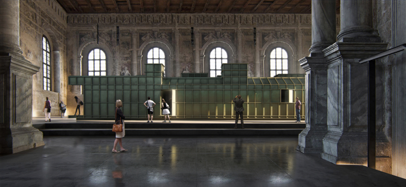 1. Steel Home Still  exhibition rendering