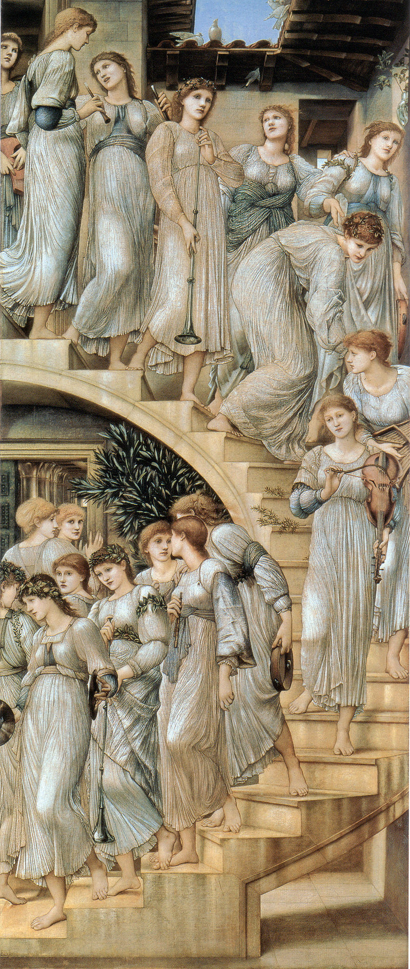 800px-Edward_Burne-Jones_The_Golden_Stairs