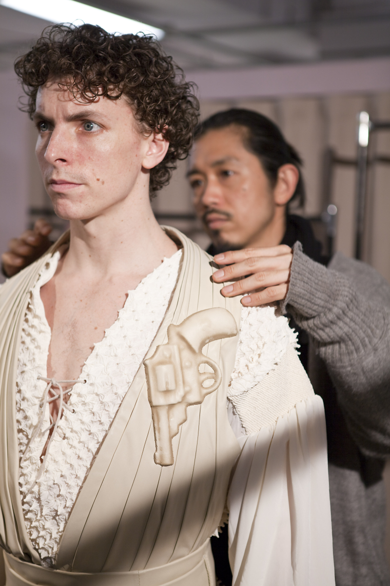 Principal artist of the Australian Ballet Kevin Jackson is fitted for his costume in Graeme Murphy's Romeo and Juliet  2011. Photo by Lynette Wills