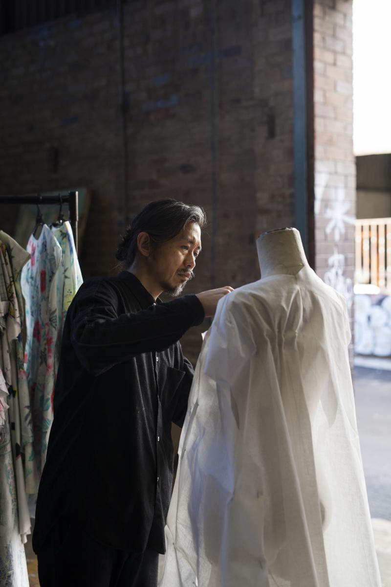 Portrait of Akira Isogawa  photograph by Daniel New