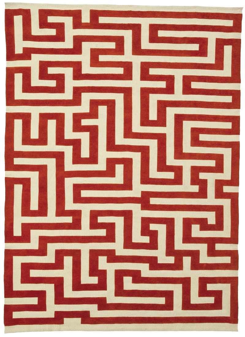 Anni Albers_red meander_Christopher Farr