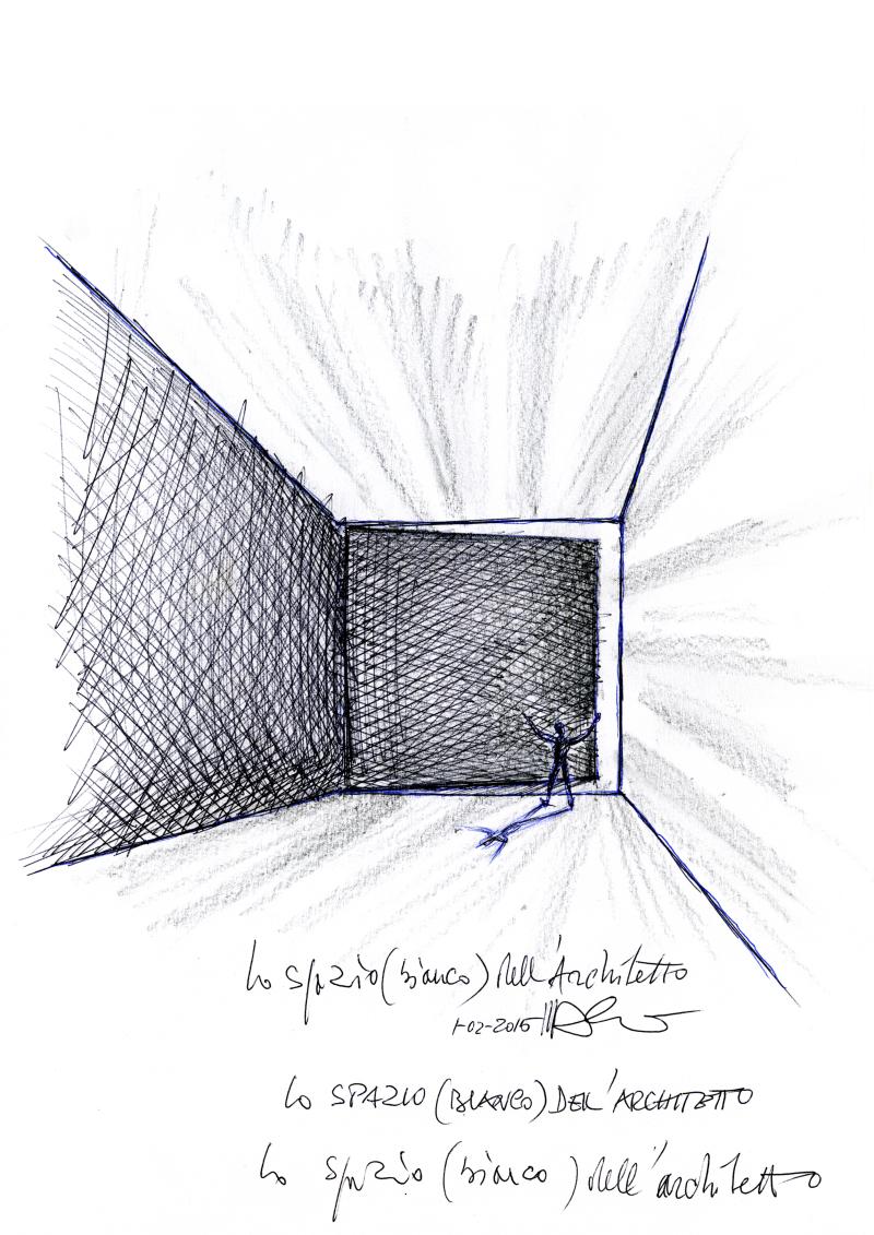 2015_Sketch 'Lo Spazio Bianco dell'Architetto' (∏ Mario Bellini Archive)