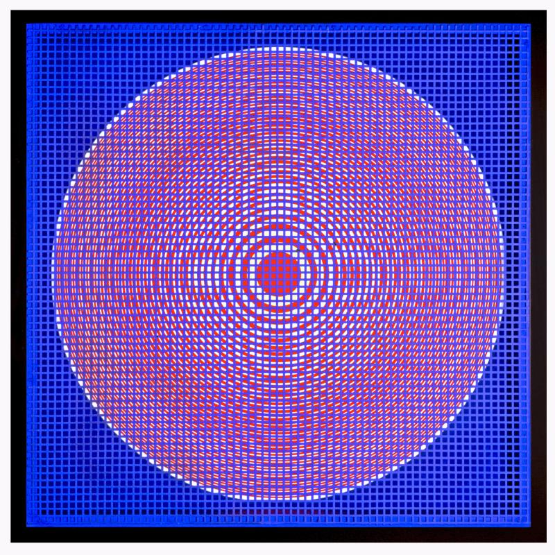 1 Alberto Biasi  Rilievo ottico-dinamico  1962  cm 50 x 50 x 3