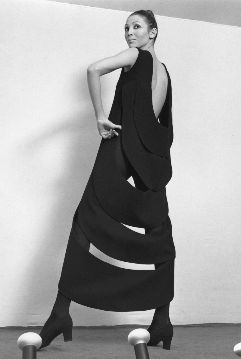Dress with kinetic back  1970. Photograph by Yoshi Takata