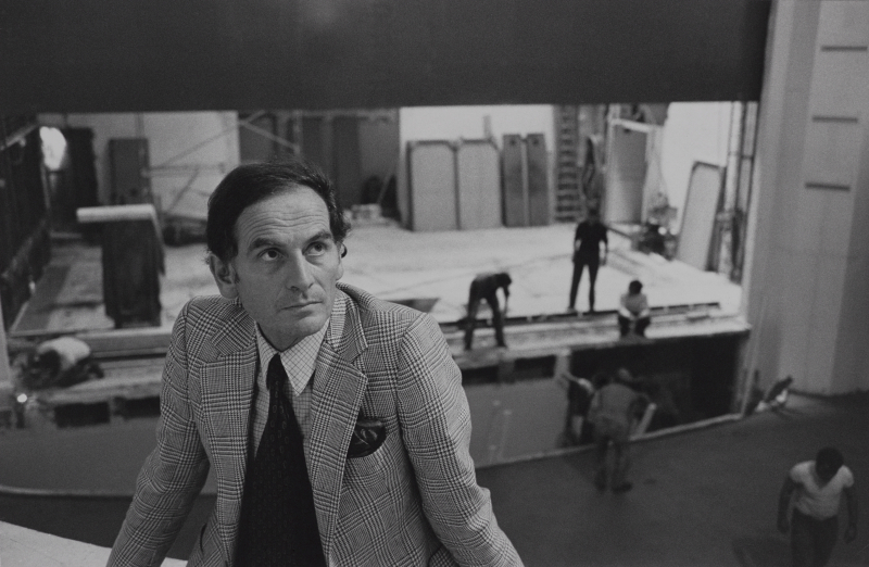Pierre Cardin at the St. James Theatre  1977. Photograph by Ivan Farkas