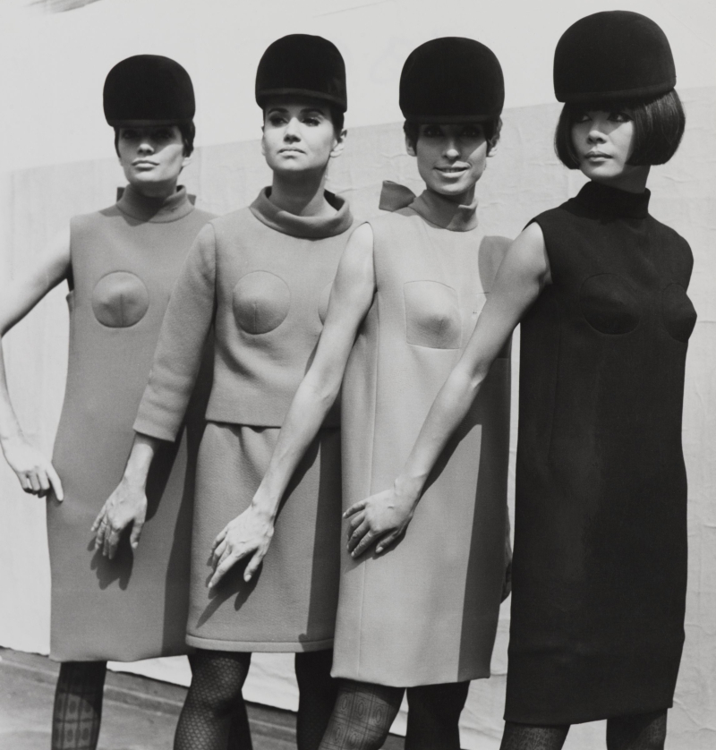 Minidresses with sculpted bust detail  1966