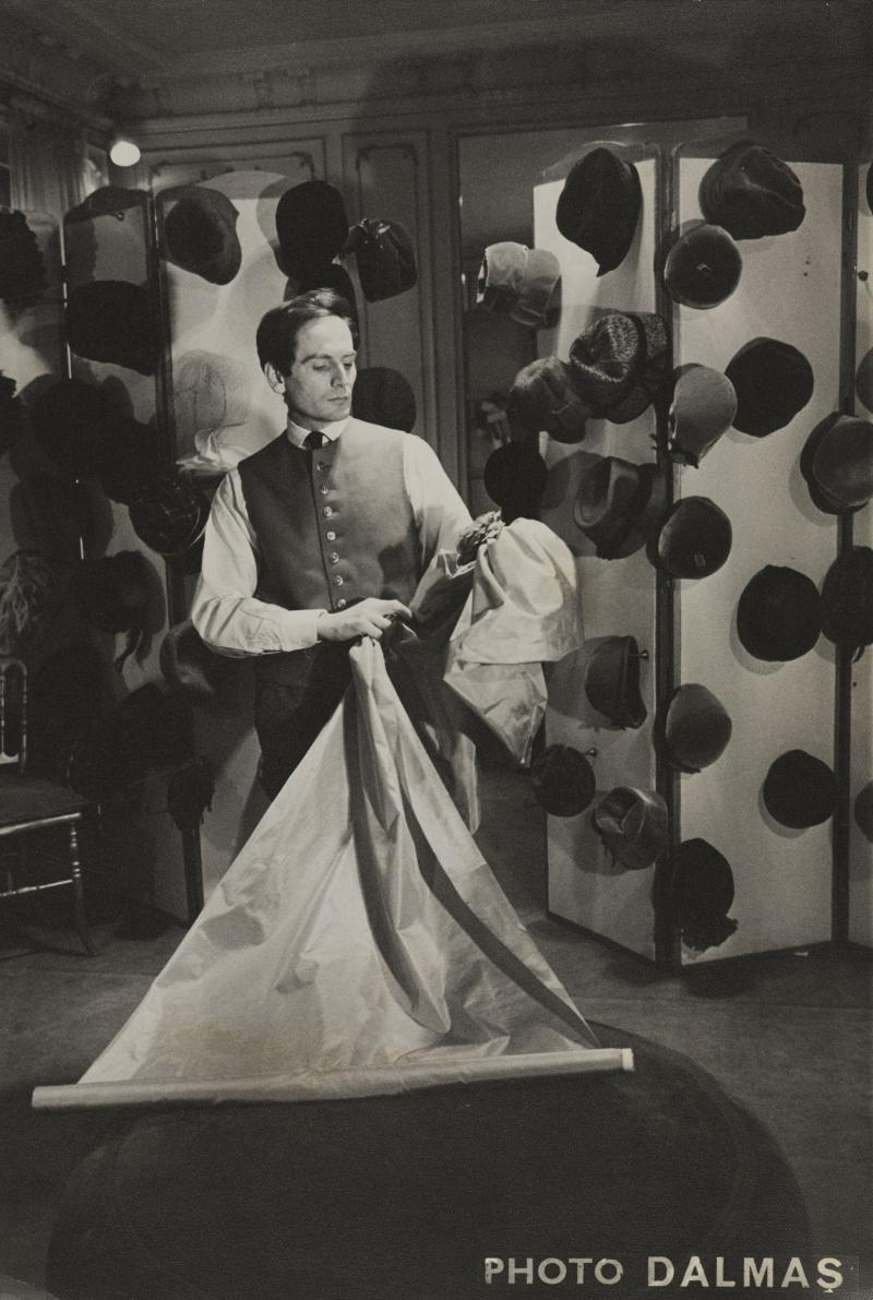 Pierre Cardin in his couture salon  1952