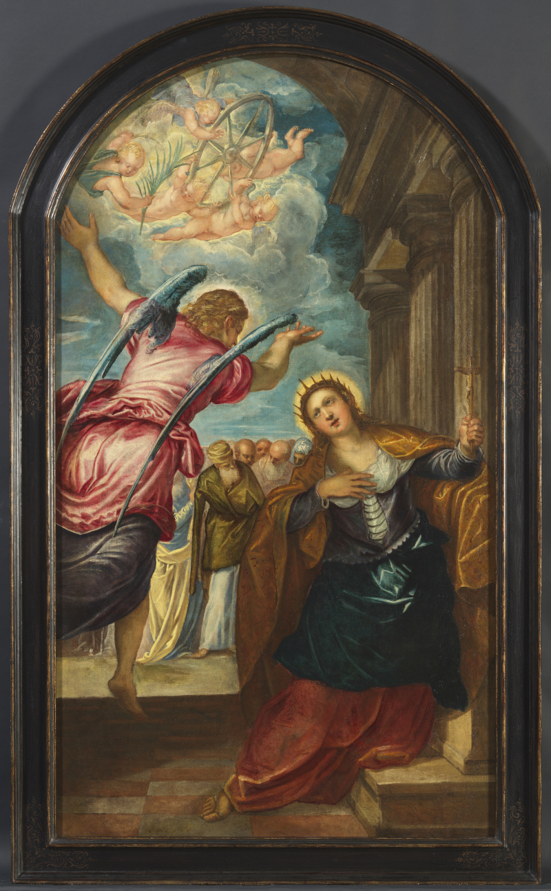 5_Tintoretto_Angel foretelling the Martyrdom of Saint Catherine of Alexandria