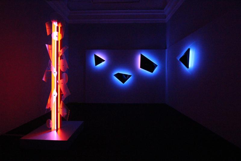 10_Exhibition view  Nanda Vigo  Palazzo Reale  Milano  2019  opere _Neverended light_ e _Galactica sky_a