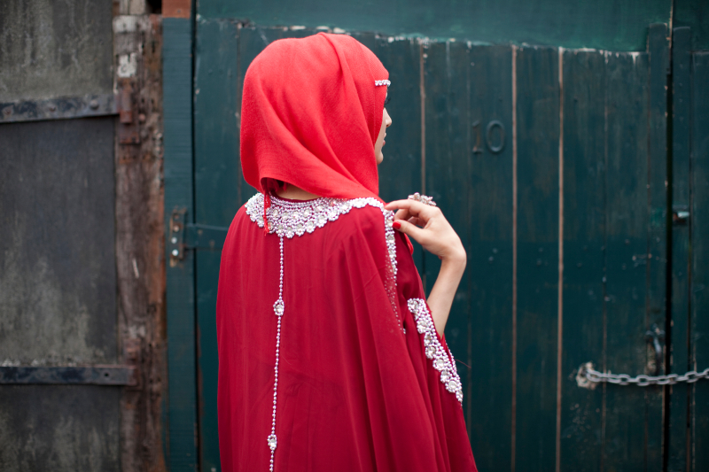 Red hijab  red dress and bling -® Mahtab Hussain from the series 'Honest With You'_edit