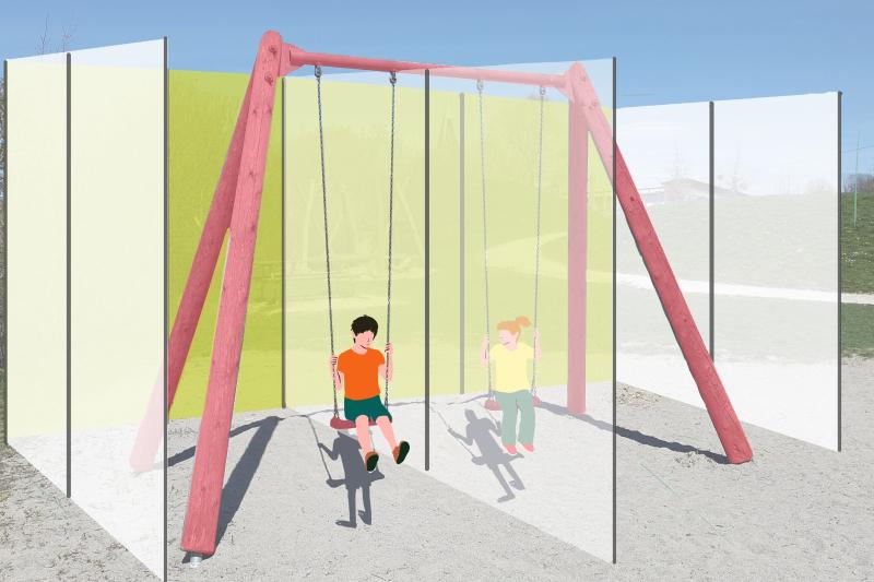 Delimita' barriere protettive in aree giochi