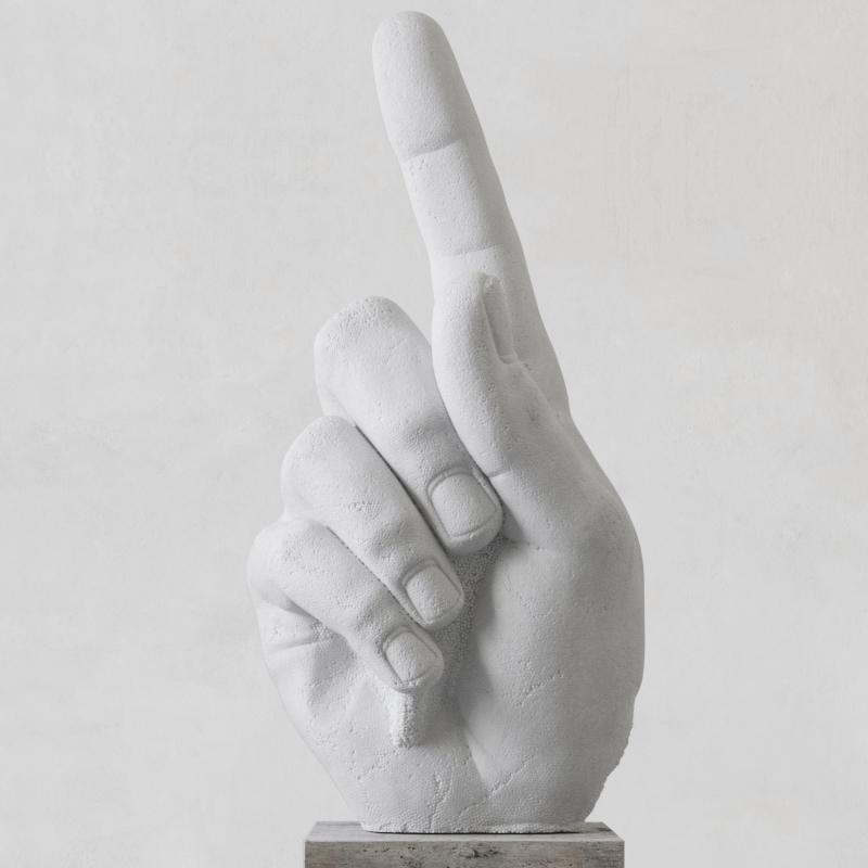 Door release  2018  marmo bianco  198x100x55 cm (effetto polistirolo)