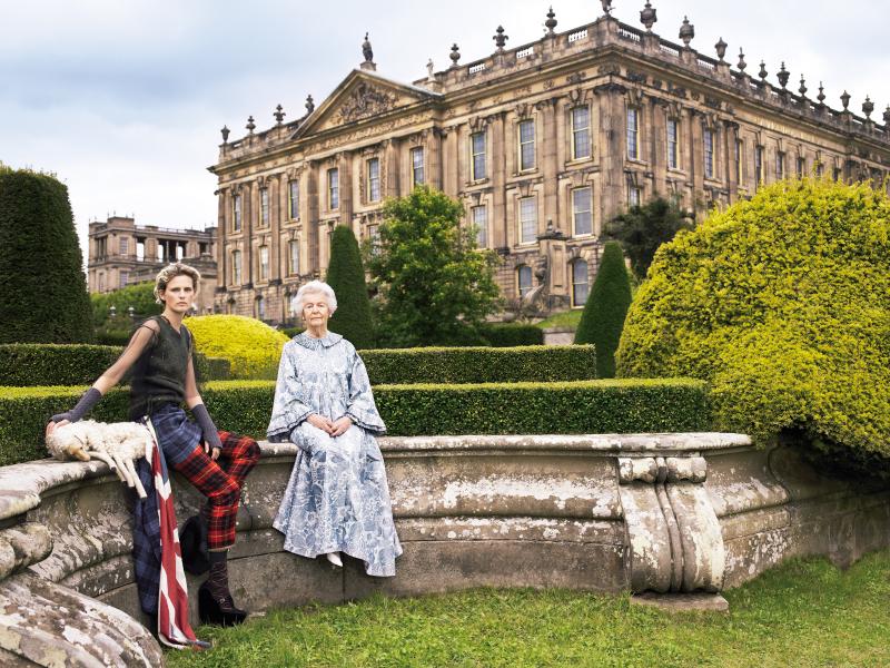 Dowafer Duchess of Devonshire - Stella Tennant Chatsworth