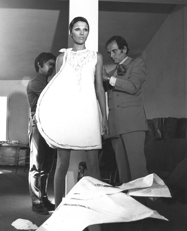 Pierre cardin fitting model Maryse Gaspard