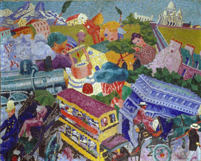 Gino_Severini _1911 _Souvenirs_de_Voyage _oil_on_canvas _47_x_75_cm _private_collection