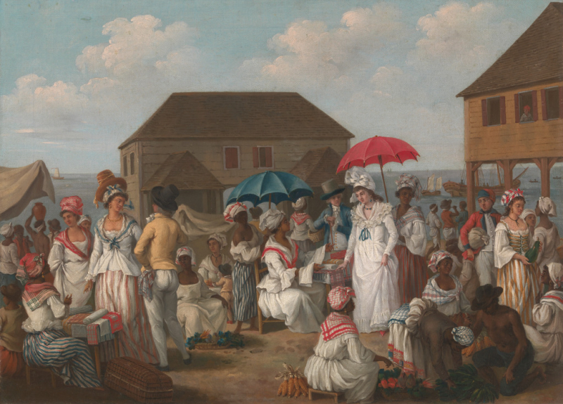 Agostino Brunias_Linen Day  Roseau  Dominica_A Market Scene  about 1780