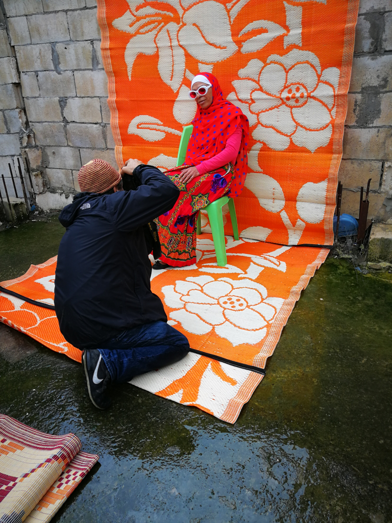 Behind the scene Hassan Hajjaj Beyrouth 2-photography by Jenny Fremont